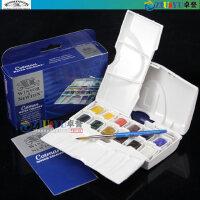 英国温莎牛顿373 歌文cotman固体水彩颜料|12色块状固体水彩套装