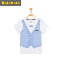巴拉巴拉男童短袖t恤中大童上衣童装夏装儿童假两件T恤男
