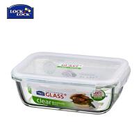 乐扣乐扣1.35L耐热玻璃保鲜盒 玻璃餐盒长方形微波饭盒LLG448