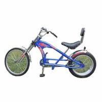 2024寸哈雷型自行车海滩城市休闲复古太子宽胎锻炼 公路 山地 公路车 山地车 蓝色 20-24英寸