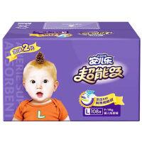 [当当自营]安儿乐 超能吸婴儿纸尿裤(电商箱装)L108片(适合体重9kg -14kg)