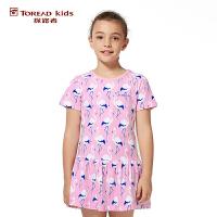 探路者TOREAD品牌童装 户外运动 女童风格系列针织连衣裙