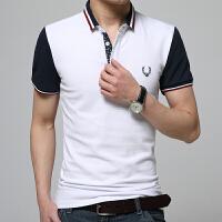 新款夏装男士短袖t恤 男潮韩版修身纯棉短袖男装polo衫