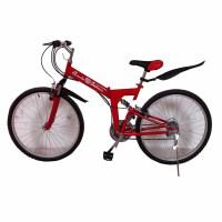 26寸山地自行车21速折叠变速学生车赛车越野跑车 公路车 山地车