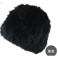时尚冬天女士皮草帽子韩版帽子可爱针织帽兔毛帽子