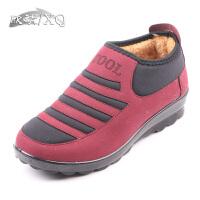 欣清冬季新款老北京布鞋保暖鞋女棉鞋妈妈棉鞋雪地靴加厚休闲短靴