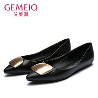 戈美其2017春季新款正品单鞋韩版女鞋休闲单鞋孕妇平底鞋1751391