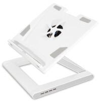 笔记本散热底座,笔记本散热支架,韩国纯白至冷可升降笔记本电脑台 带USB HUB,笔记本升降支架