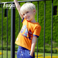 TAGA童装 2017夏装新款男童短袖T恤衫儿童纯棉上衣中大童夏季T恤