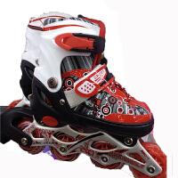 儿童单闪轮滑鞋套装 溜冰鞋套装  护具头盔