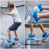 【618大促】鸿星尔克新款清凉透气儿童网面柔软弹性防滑运动休闲鞋