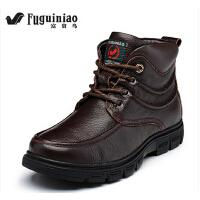 男鞋真皮高帮棉鞋加绒保暖短靴英伦工装靴日常休闲马丁靴
