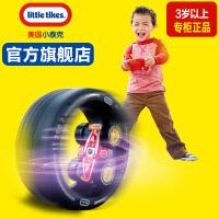 美国Littletiikes小泰克儿童玩具遥控汽车赛车旋转翻滚带轮胎跑道