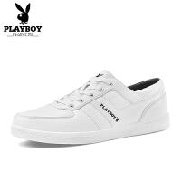 花花公子男鞋子夏季白鞋男士运动休闲鞋韩版潮流黑白色百搭板鞋男 动-DA75101