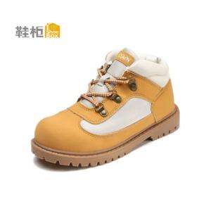 鞋柜SHOEBOX 男童春季新款系带时尚撞色高帮防滑休闲鞋