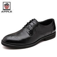 Apple苹果 男鞋英伦男士休闲皮鞋系带潮鞋男5164070