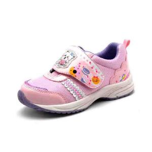 鞋柜/SHOEBOX秋冬新款儿童鞋女童鞋 卡通中童运动鞋 透气网面秋鞋