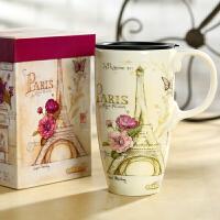 爱屋格林创意马克杯大容量水杯子陶瓷杯礼盒装咖啡杯