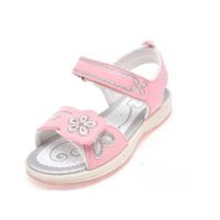 Shoebox/鞋柜夏季新款花朵装饰魔术贴平跟露趾女童鞋凉鞋