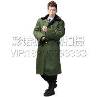 冬季防寒服保安值班棉大衣户外出行中老年军大衣保暖男士加厚加长款保安执勤服棉袄军大衣外套