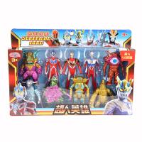 咸蛋超人 银河奥特曼怪兽玩偶套装可动儿童玩具 9个人偶套装 超人英雄2034款式*