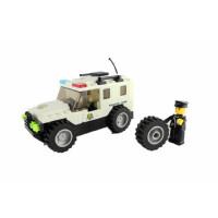 警察军事警车模系列男女孩万格正品益智儿童玩具塑料积木拼插拼装