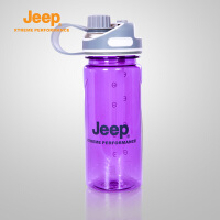 【限时秒杀29元】Jeep/吉普 户外情侣水杯透明太空杯自行车水壶J630700058