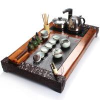 尚帝 四合一汝窑功夫茶具陶瓷套装 整套电磁炉茶具实木茶盘套装WPTXMS6K