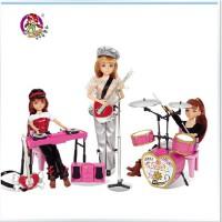 全店满99包邮!乐吉儿梦幻歌手芭比娃娃套装礼盒正品2014女孩过家家玩具