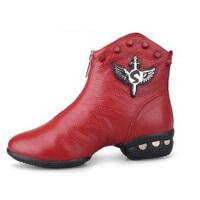 雷博秋冬季舞蹈靴舞蹈鞋软底 跳舞鞋女士现代舞广场舞靴