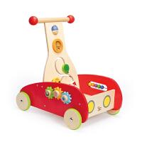Hape 新奇学步车 1-2岁儿童玩具 多功能推车 *佳品 E0370