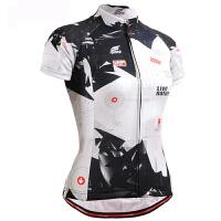 夏季女式短袖骑行服自行车吸湿排汗赛车服