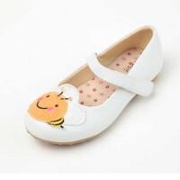 鞋柜新款女单鞋女童鞋舒适女童鞋可爱圆头卡通图案小孩童鞋