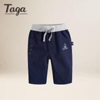 TAGA童装 2017夏季新款男童梭织短裤儿童休闲运动裤中大童修身