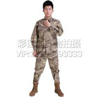 户外拓展训练服 户外运动军迷装备 外军BDU简易版数码迷彩套装 户外运动军迷装备