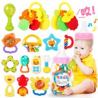 米米智玩 婴儿玩具 新生宝宝益智玩具0-1岁早教礼盒装摇铃送牙胶宝宝玩具