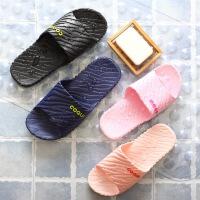 包邮酷趣夏季情侣凉拖鞋女 男居家室内防滑地板拖浴室拖软底