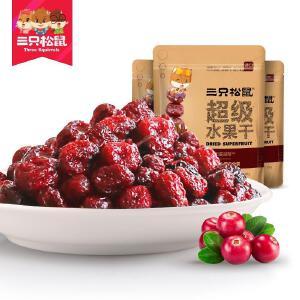 新品【三只松鼠_蔓越莓干108gx3袋】零食蜜饯果脯水果干