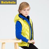 巴拉巴拉童装男童马甲中大童上衣冬装  儿童时尚无袖背心男