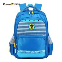 卡拉羊儿童书包男女童1-4年级学生书包韩版可爱双肩护脊小背包带反光条CX2594