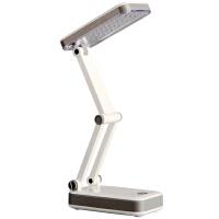 得力文具(deli) 3676 台灯 充电LED节能  可折叠式护眼灯  学生阅读学习台灯
