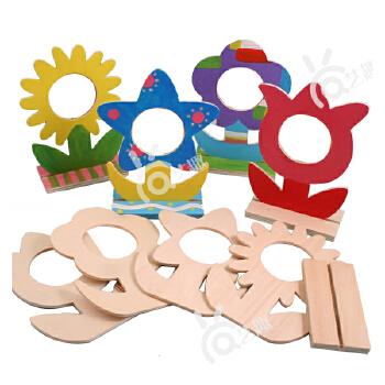 【艺趣手工diy】教师节礼物/品木质花朵相框幼儿园包