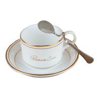 陶瓷杯子 欧式金边骨瓷咖啡杯碟/单品杯/意式杯套装送咖啡勺 小
