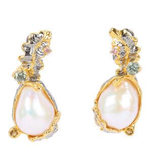 戴和美珠宝首饰耳饰 精选珍珠个性水草耳环耳坠