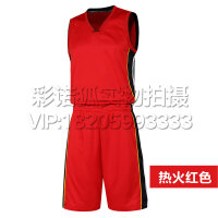2016新款夏季热火队红色篮球服 湖人队科比球衣篮球服训练背心 可印字印号定制篮球服奥尼尔球衣