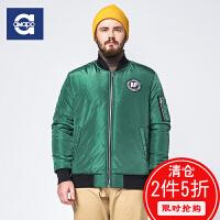 AMAPO潮牌大码男装 胖男士加大码罗纹棒球服冬季保暖外套棉衣服男