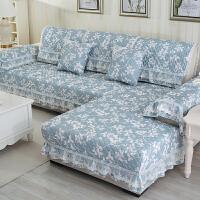 福存家居 真皮布艺沙发坐垫防滑欧式田园沙发垫巾套罩飘窗垫抱枕