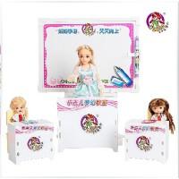 全店满99包邮!乐吉儿梦幻教室芭比娃娃套装礼盒正品2014女孩过家家玩具