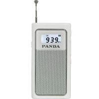 【当当自营】 熊猫/PANDA 6200 充电插卡收音机老人迷你袖珍便携式半导体播放器 白色