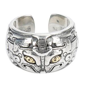 戴和美珠宝首饰戒指 S925银戒指饕餮戒指指环